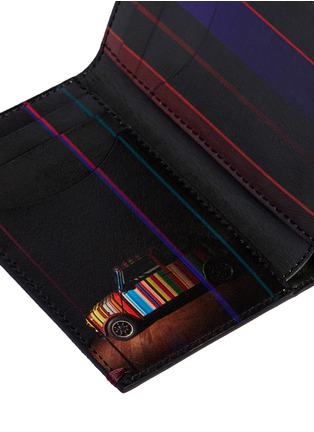 Detail View - Click To Enlarge - Paul Smith - 'Mini Graphic Edge' print interior bi-fold card holder