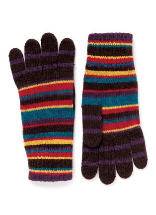 Main View - Click To Enlarge - Paul Smith - Multi stripe knit gloves