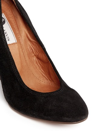 Detail View - Click To Enlarge - Lanvin - Suede wedge heel pumps