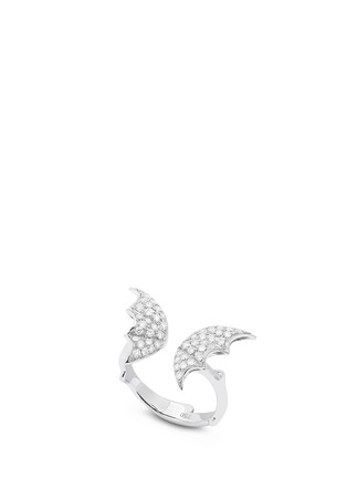 Main View - Click To Enlarge - Stephen Webster - 'Fly By Night' diamond 18k white gold batmoth open ring