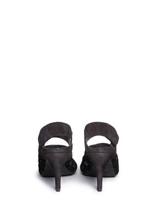 Back View - Click To Enlarge - Pedro García - 'Yuna' strappy suede sandals