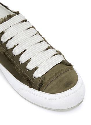 Detail View - Click To Enlarge - PEDRO GARCÍA - 'Parson' satin sneakers