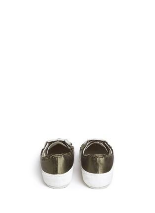 Back View - Click To Enlarge - PEDRO GARCÍA - 'Parson' satin sneakers