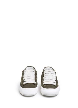 Front View - Click To Enlarge - PEDRO GARCÍA - 'Parson' satin sneakers