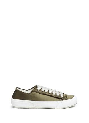 Main View - Click To Enlarge - PEDRO GARCÍA - 'Parson' satin sneakers