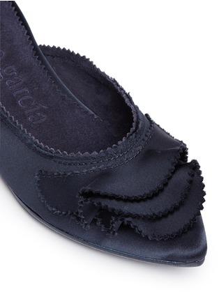Detail View - Click To Enlarge - Pedro García - 'Alia' ruffled satin slippers