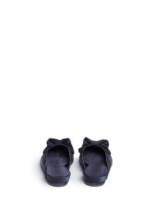 Back View - Click To Enlarge - Pedro García - 'Alia' ruffled satin slippers