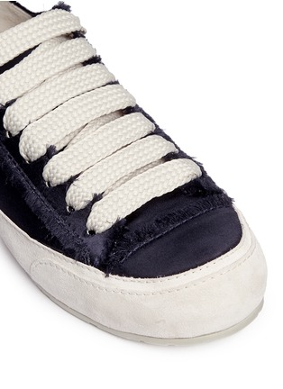 Detail View - Click To Enlarge - Pedro García - 'Parson' satin sneakers