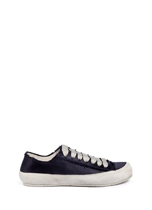 Main View - Click To Enlarge - Pedro García - 'Parson' satin sneakers