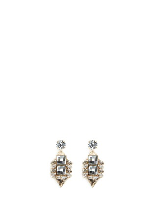 Main View - Click To Enlarge - Anton Heunis - 'Double Pixel' Swarovski crystal drop earrings