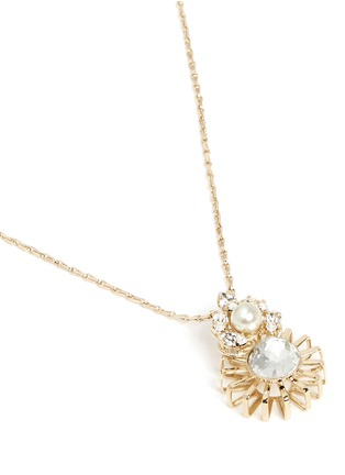 Detail View - Click To Enlarge - Anton Heunis - Swarovski crystal sunburst pendant necklace