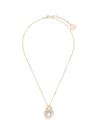 Main View - Click To Enlarge - Anton Heunis - Swarovski crystal sunburst pendant necklace