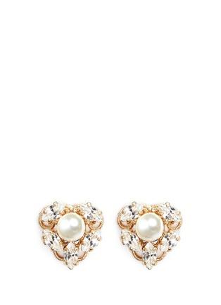 Main View - Click To Enlarge - Anton Heunis - Swarovski crystal pearl stud earrings