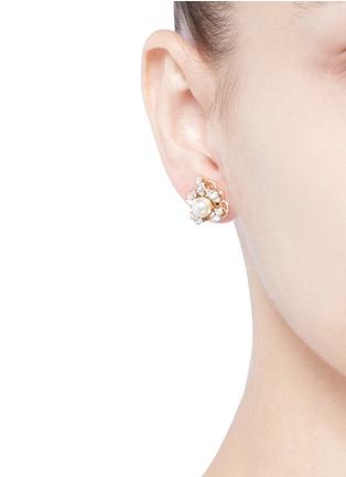Figure View - Click To Enlarge - Anton Heunis - Swarovski crystal pearl stud earrings