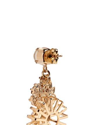 Detail View - Click To Enlarge - Anton Heunis - Swarovski crystal pearl sunburst drop earrings