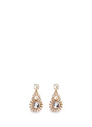 Main View - Click To Enlarge - Anton Heunis - Swarovski crystal pearl sunburst drop earrings