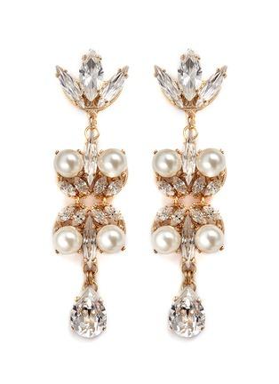 Main View - Click To Enlarge - Anton Heunis - Swarovski crystal pearl teardrop earrings