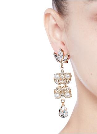 Figure View - Click To Enlarge - Anton Heunis - Swarovski crystal pearl teardrop earrings