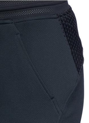 Detail View - Click To Enlarge - Nike - 'Nikecourt' hypermesh trim drawstring pants