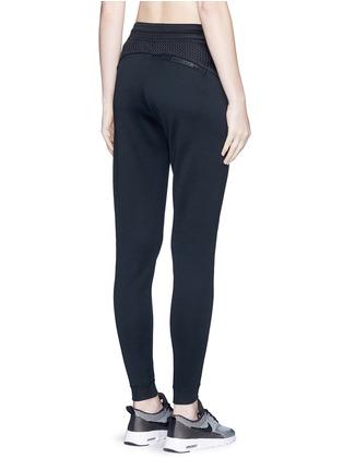 Back View - Click To Enlarge - Nike - 'Nikecourt' hypermesh trim drawstring pants