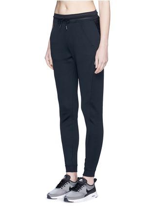 Front View - Click To Enlarge - Nike - 'Nikecourt' hypermesh trim drawstring pants