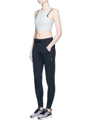 Figure View - Click To Enlarge - Nike - 'Nikecourt' hypermesh trim drawstring pants