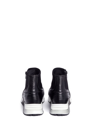 Back View - Click To Enlarge - ASH - 'Legend' tribal embossed scuba sock sneakers