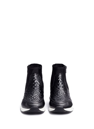 Front View - Click To Enlarge - ASH - 'Legend' tribal embossed scuba sock sneakers