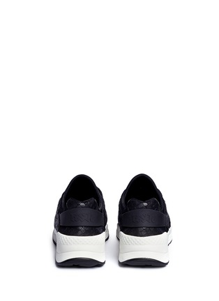 Back View - Click To Enlarge - Ash - 'Mood' hotfix strass snakeskin effect camouflage sneakers