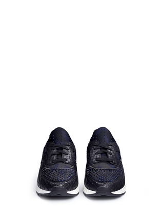 Front View - Click To Enlarge - Ash - 'Mood' hotfix strass snakeskin effect camouflage sneakers