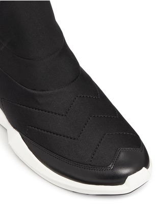 Detail View - Click To Enlarge - Ash - 'Quid' geometric sole quilted neoprene sneakers