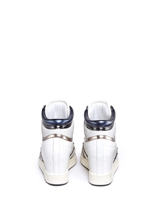 Back View - Click To Enlarge - Ash - 'Prince' stud high top leather wedge sneakers