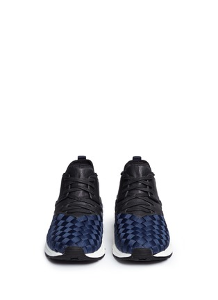 Front View - Click To Enlarge - Ash - 'Match' dégrade woven sneakers