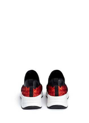 Back View - Click To Enlarge - ASH - 'Match' dégrade woven sneakers