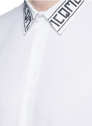 Detail View - Click To Enlarge - McQ Alexander McQueen - Logo collar cotton shirt