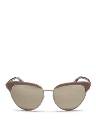 Main View - Click To Enlarge - Oliver Peoples - 'Josa' acetate trim metal cat eye sunglasses