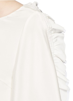 Detail View - Click To Enlarge - 3.1 Phillip Lim - Ruffle sleeve silk boxy top
