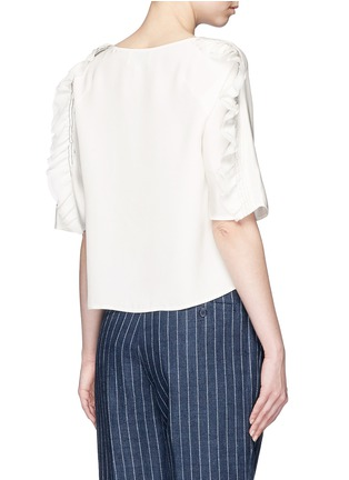 Back View - Click To Enlarge - 3.1 Phillip Lim - Ruffle sleeve silk boxy top