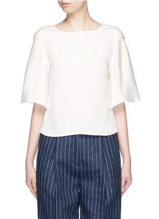 Main View - Click To Enlarge - 3.1 Phillip Lim - Ruffle sleeve silk boxy top