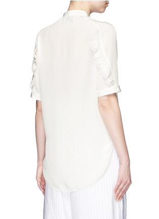 Back View - Click To Enlarge - 3.1 Phillip Lim - Quilted ruffle trim silk shirt