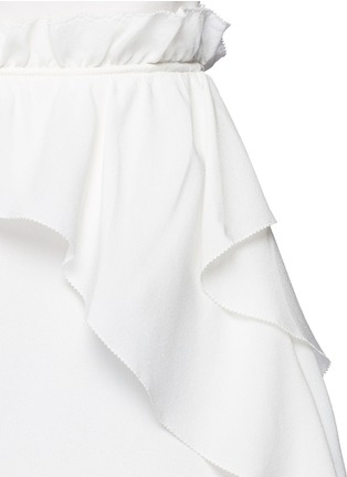 Detail View - Click To Enlarge - 3.1 Phillip Lim - Cascading ruffle apron front silk dress