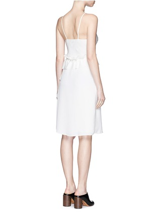 Back View - Click To Enlarge - 3.1 Phillip Lim - Cascading ruffle apron front silk dress