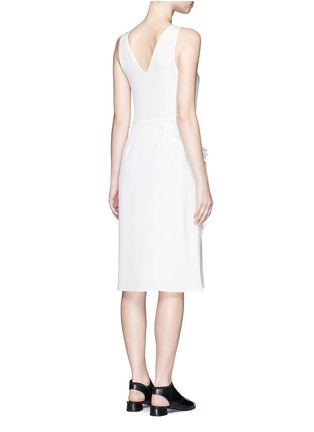 Back View - Click To Enlarge - 3.1 Phillip Lim - Quilted ruffle trim sleeveless silk dress