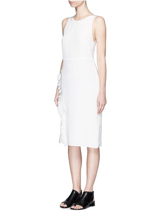 Figure View - Click To Enlarge - 3.1 Phillip Lim - Quilted ruffle trim sleeveless silk dress
