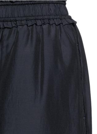 Detail View - Click To Enlarge - 3.1 PHILLIP LIM - Paperbag waist silk-cotton parachute culottes