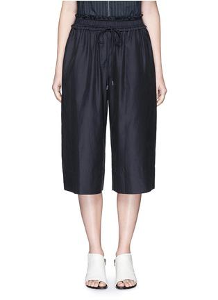 Main View - Click To Enlarge - 3.1 PHILLIP LIM - Paperbag waist silk-cotton parachute culottes