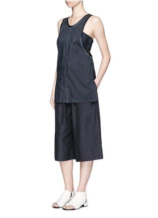 Figure View - Click To Enlarge - 3.1 PHILLIP LIM - Paperbag waist silk-cotton parachute culottes