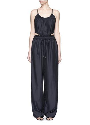 Main View - Click To Enlarge - 3.1 Phillip Lim - Paperbag waist silk-cotton tank jumpsuit