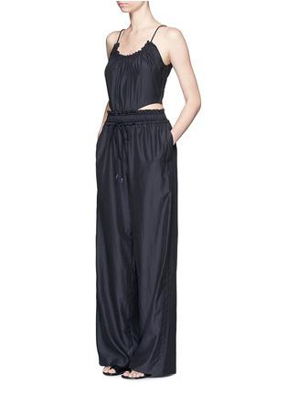 Figure View - Click To Enlarge - 3.1 Phillip Lim - Paperbag waist silk-cotton tank jumpsuit