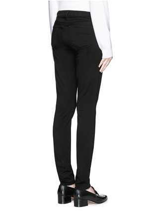 Back View - Click To Enlarge - J BRAND - 'Luxe Sateen' super skinny jeans